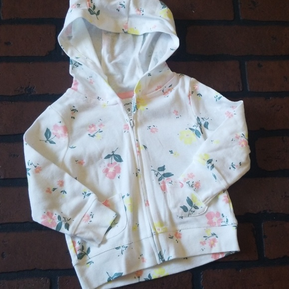 Carter's Other - Carters infant floral sweater size 9 months